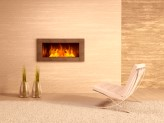 Built-in gas fire with central heating in Somerset home