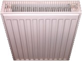 Modern twin-panel central heating radiators combine clean good looks with effective background heating