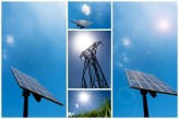Renewable energy solar panels can be mounted in your garden or roof