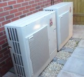 Ecodan air source heat pump for space heating in Newport from Mitsubishi